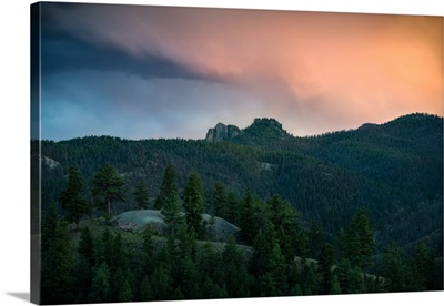 A Soft Sunset Over Colorado Pine Country, CO