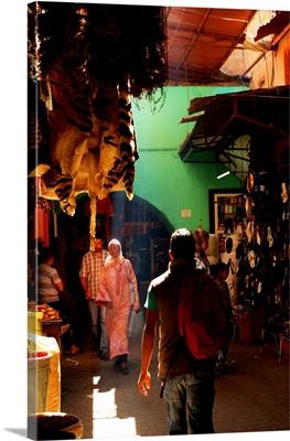 Animal Pelts Hang for Sale, Marrakesh, Morocco