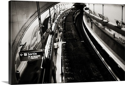 Men and Women Commute in Paris, France