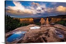 Monsoon Rains Over Colorado's Desert, Colorado National Monument, Colorado