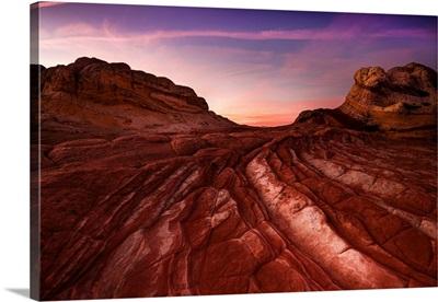 Sunset Over Paria Plateau; White Pocket, Arizona