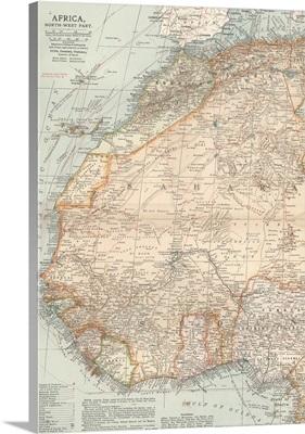 Africa, North-West Part - Vintage Map