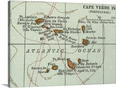 Cape Verde Islands - Vintage Map