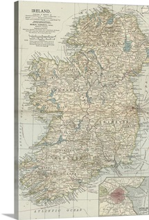 Ireland - Vintage Map