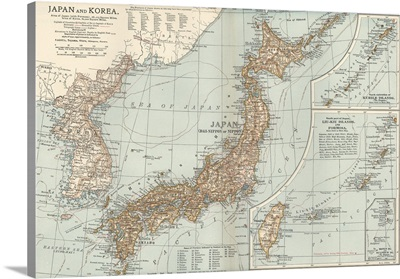 Japan - Vintage Map