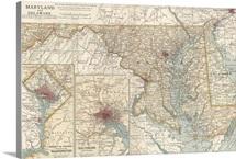 Maryland - Vintage Map