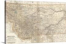 Montana - Vintage Map