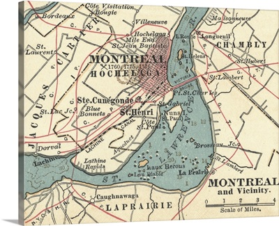 Montreal - Vintage Map