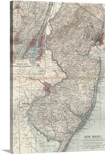 New Jersey - Vintage Map