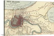New Orleans - Vintage Map