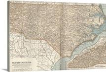 North Carolina - Vintage Map