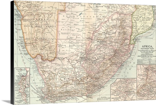 South africa vintage map wall art canvas prints framed prints south africa vintage map canvas gumiabroncs Images