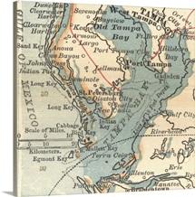 Tampa Bay - Vintage Map