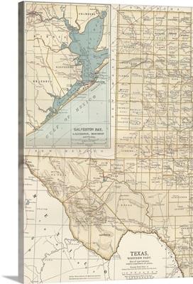 Texas, Western Part - Vintage Map