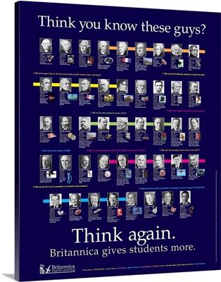 The Presidents Educational Poster, 2013