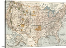 United States - Vintage Map