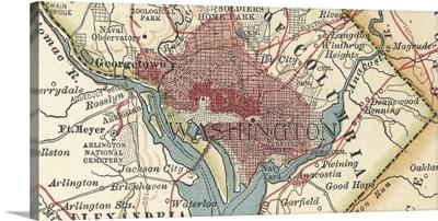 Washington, DC - Vintage Map