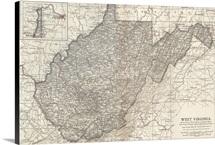 West Virginia - Vintage Map