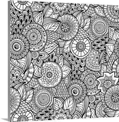 Flowers and Swirls III