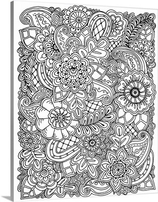 Flowers and Swirls VI
