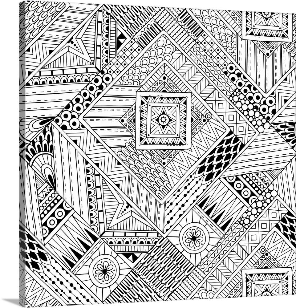Geometric Patterns Ii Wall Art Canvas Prints Framed Prints Wall Peels Great Big Canvas