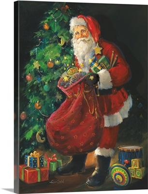 Santa Just Opening His Sack