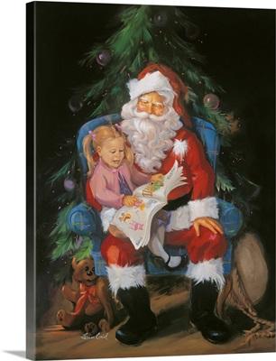 Santa with Girl