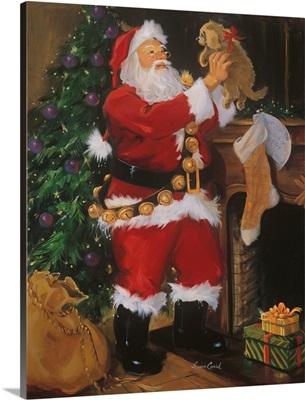 Santa With Puppy