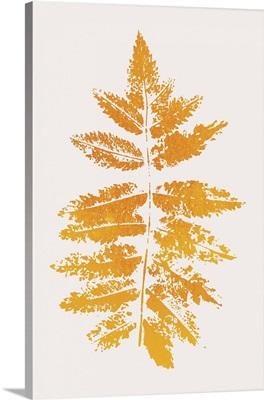 Oak Leaf Print - Yellow