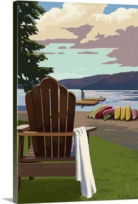 Adirondack Chairs: Retro Poster Art