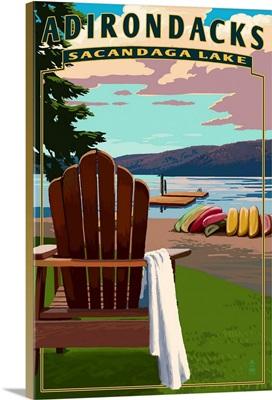 Adirondack Mountains, New York, Sacandaga Lake Adirondack Chair