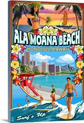Ala Moana Beach, Honolulu, Hawai'i, Montage Scene