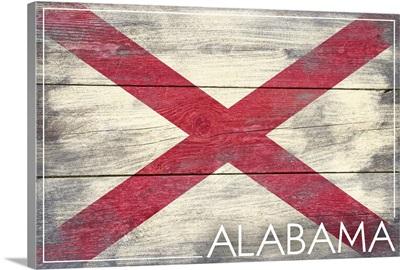 Alabama State Flag, Barnwood Painting