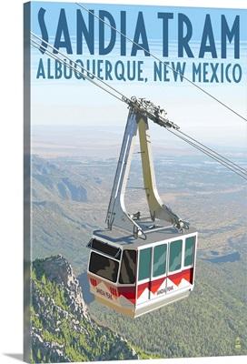 Albuquerque, New Mexico - Sandia Tram: Retro Travel Poster