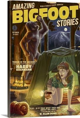 Amazing Bigfoot Stories: Retro Travel Poster
