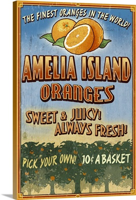 Amelia Island, Florida, Orange Grove, Vintage Sign