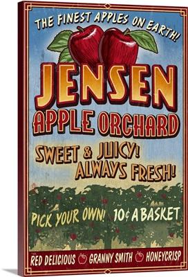 Apple Orchard, Vintage Sign