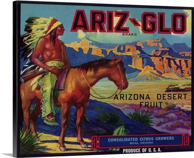 Ariz-Glo Orange Label, Mesa, AZ