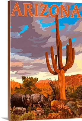 Arizona, Javelina and Cactus