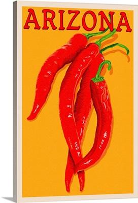 Arizona, Red Chili, Letterpress
