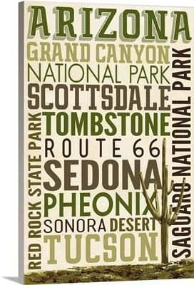 Arizona, Typography