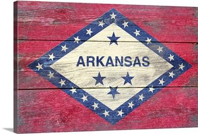 Arkansas State Flag, Barnwood Painting