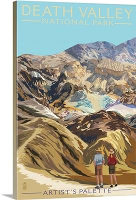 Artist's Palette - Death Valley National Park: Retro Travel Poster