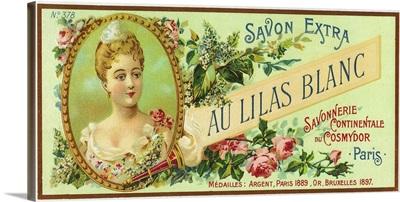 Au Lilas Blanc Soap Label, Paris, France