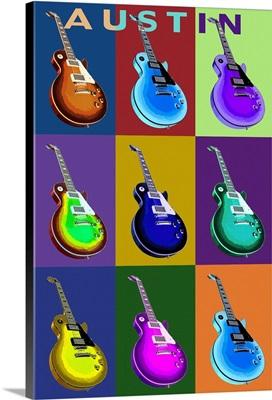 Austin, Texas, Guitar Pop Art