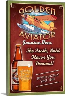 Aviator Beer, Vintage Sign