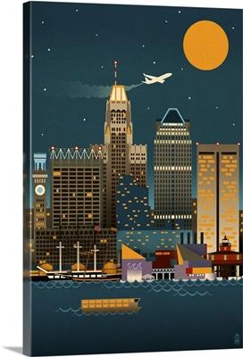 Baltimore, Maryland, Retro Skyline