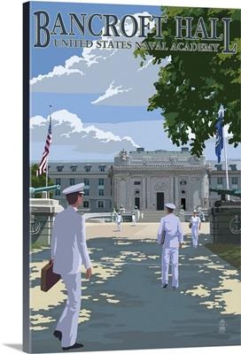 Bancroft Hall - United States Naval Academy - Annapolis, Maryland: Retro Travel Poster