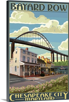 Bayard Row - Chesapeake City, Maryland: Retro Travel Poster