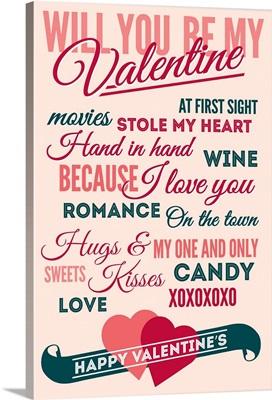 Be Mine, Valentine's Day Typography